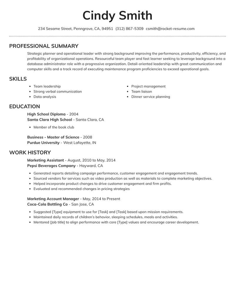 brilliant resume template