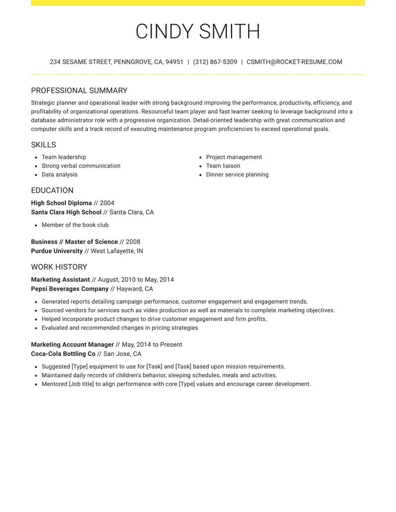 grand resume template