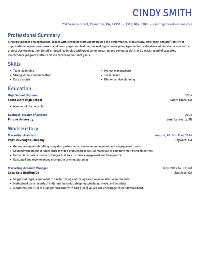 novel resume template