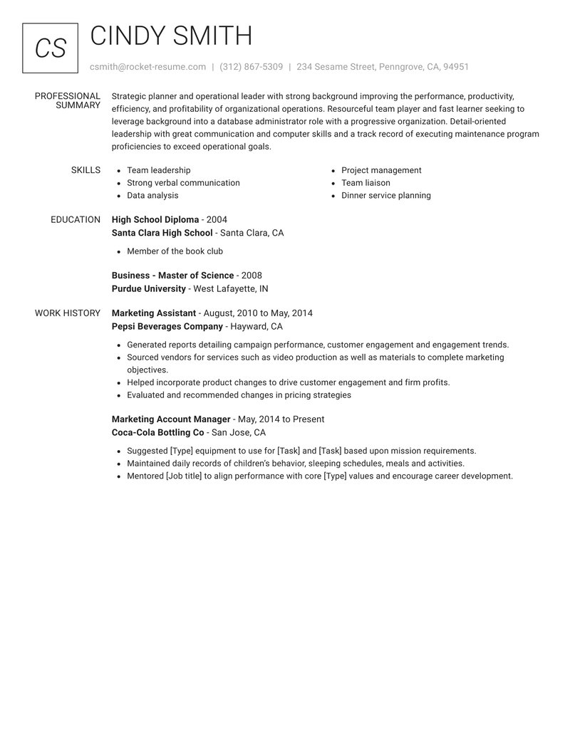 renowned resume template