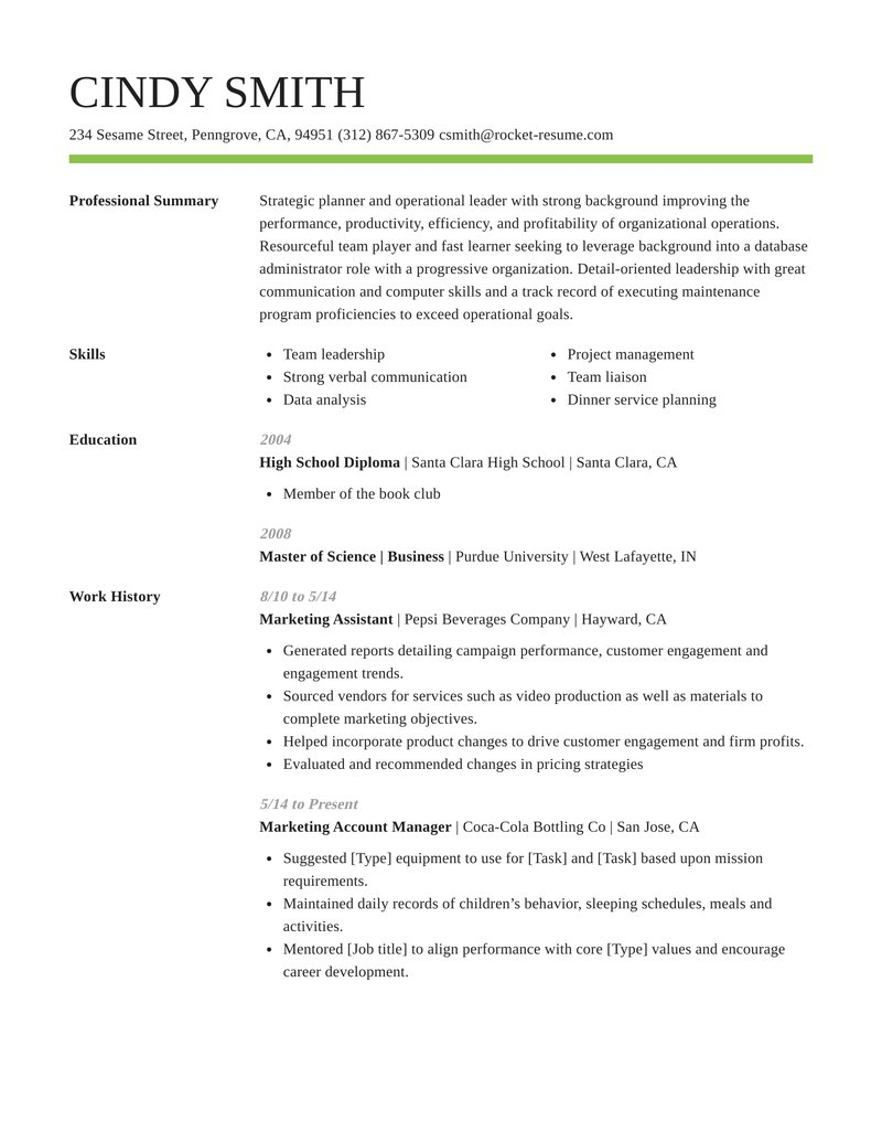 smart resume template